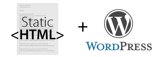 We work with static HTML, Drupal and WordPress